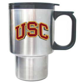 USC Trojans Stainless Travel Mug