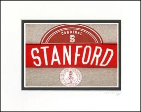 Stanford Cardinal Vintage T-Shirt Sports Art
