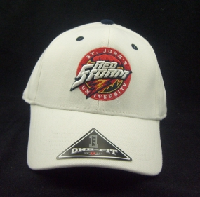 St. John's Red Storm White One Fit Hat