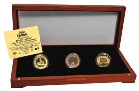 ST. LOUIS CARDINALS 24kt Gold and Infield Dirt 3 Coin Set