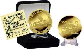 24KT Gold St. Louis Cardinals 2006 World Series Champions Coin