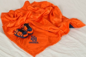 Syracuse Orange Baby Blanket and Slippers