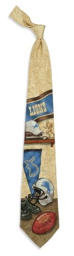 Detroit Lions Nostalgia Tie