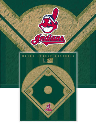 Cleveland Indians Diamond Fleece Blanket