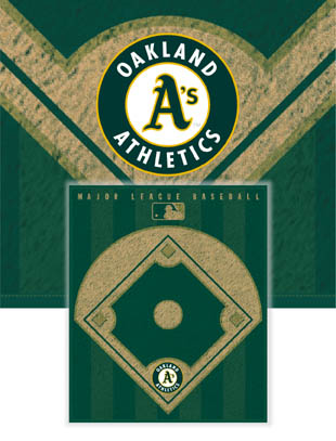 Oakland A's Diamond Fleece Blanket