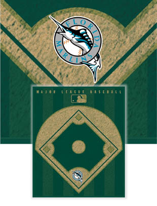 Florida Marlins Diamond Fleece Blanket