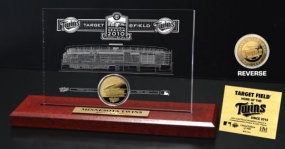 Target Field 24KT Gold Coin Etched Acrylic