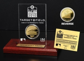 Target Field Inaugural Season 24KT Gold Coin Etched Acrylic