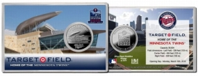 Target Field Inaugural Season Silver Coin Card