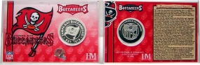 Tampa Bay Buccaneers Team History Silver Coin Card