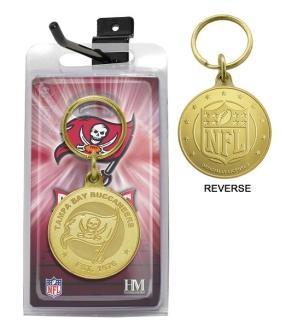 Tampa Bay Buccaneers Bronze Bullion Keychain
