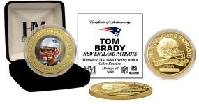 Tom Brady 24KT Commemorative Coin