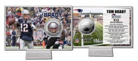 Tom Brady Silver Coin Card