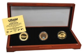 TORONTO BLUE JAYS 24kt Gold and Infield Dirt 3 Coin Set