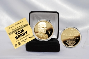 Tom Brady NFL Quarterback Coin Collection 24KT Gold Plated Coin