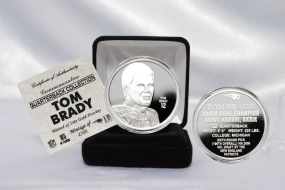 Tom Brady NFL Quarterback Coin Collection Pure Silver Coin