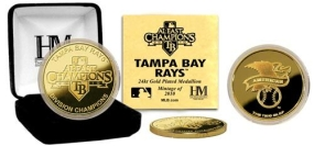 Tampa Bay Rays 2010 A.L East Division Champions 24KT Gold Coin