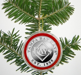 Tampa Bay Devil Rays Silver Coin Ornament