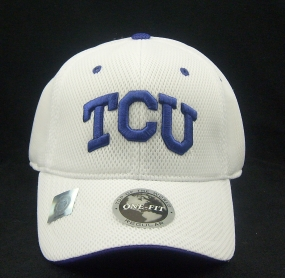 TCU Horned Frogs White Elite One Fit Hat