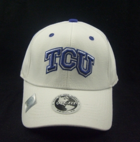 TCU Horned Frogs White One Fit Hat