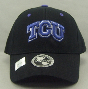 TCU Horned Frogs Black One Fit Hat