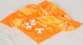 Tennessee Volunteers Baby Blanket and Slippers