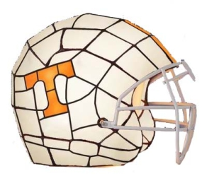 Tennessee Volunteers Glass Helmet Lamp