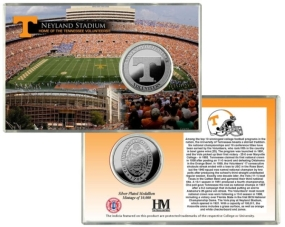 University of Tennessee Neyland Stadium Silver Coin Card