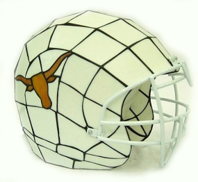 Texas Longhorns Glass Helmet Lamp