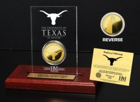 University of Texas 24KT Gold Coin Etched Acrylic