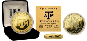 Texas A&M 24KT Gold Coin