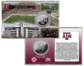 Texas A&M Kyle Field Silver Coin Card