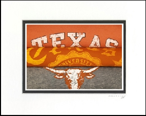 Texas Longhorns Vintage T-Shirt Sports Art