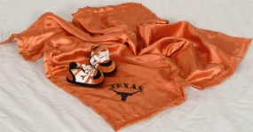 Texas Longhorns Baby Blanket and Slippers