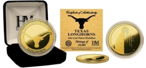 University of Texas 24KT Gold Coin