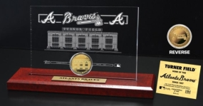 Turner Field 24KT Gold Coin Etched Acrylic