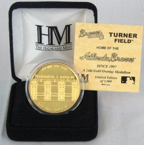 Turner Field 24KT Gold Commemorative Coin