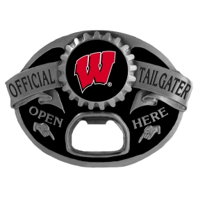 Wisconsin Badgers Bottle Opener Belt Buckle