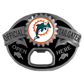 Miami Dolphins Bottle Opener Belt Buckle