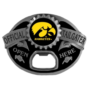 Iowa Hawkeyes Bottle Opener Belt Buckle