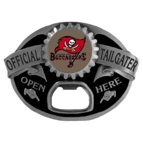 Tampa Bay Buccaneers Bottle Opener Belt Buckle