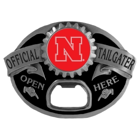 Nebraska Cornhuskers Bottle Opener Belt Buckle