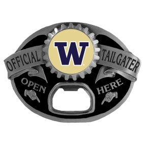 Washington Huskies Bottle Opener Belt Buckle