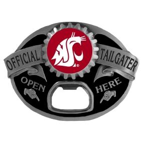 Washington State Cougars Bottle Opener Belt Buckle