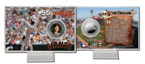 Tim Lincecum Silver Plate Coin Card