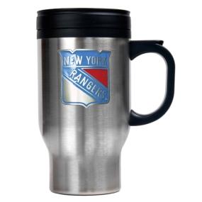 New York Rangers Stainless Steel Travel Mug
