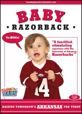 """BABY RAZORBACK """"Raising Tomorrow's Arkansas Fan Today!"""""""