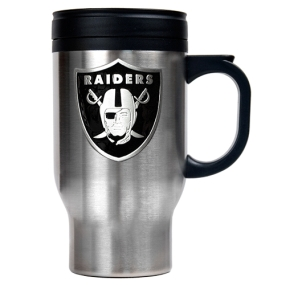 Oakland Raiders 16oz Stainless Steel Travel Mug