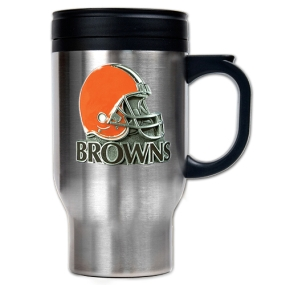 Cleveland Browns 16oz Stainless Steel Travel Mug