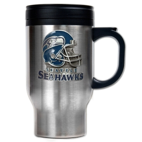 Seattle Seahawks 16oz Stainless Steel Travel Mug